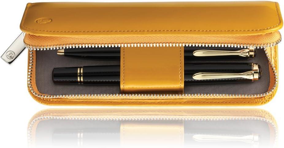 Pelikan 973313 TG182 - Estuche para bolígrafo y pluma (piel), color amarillo: Amazon.es: Oficina y papelería