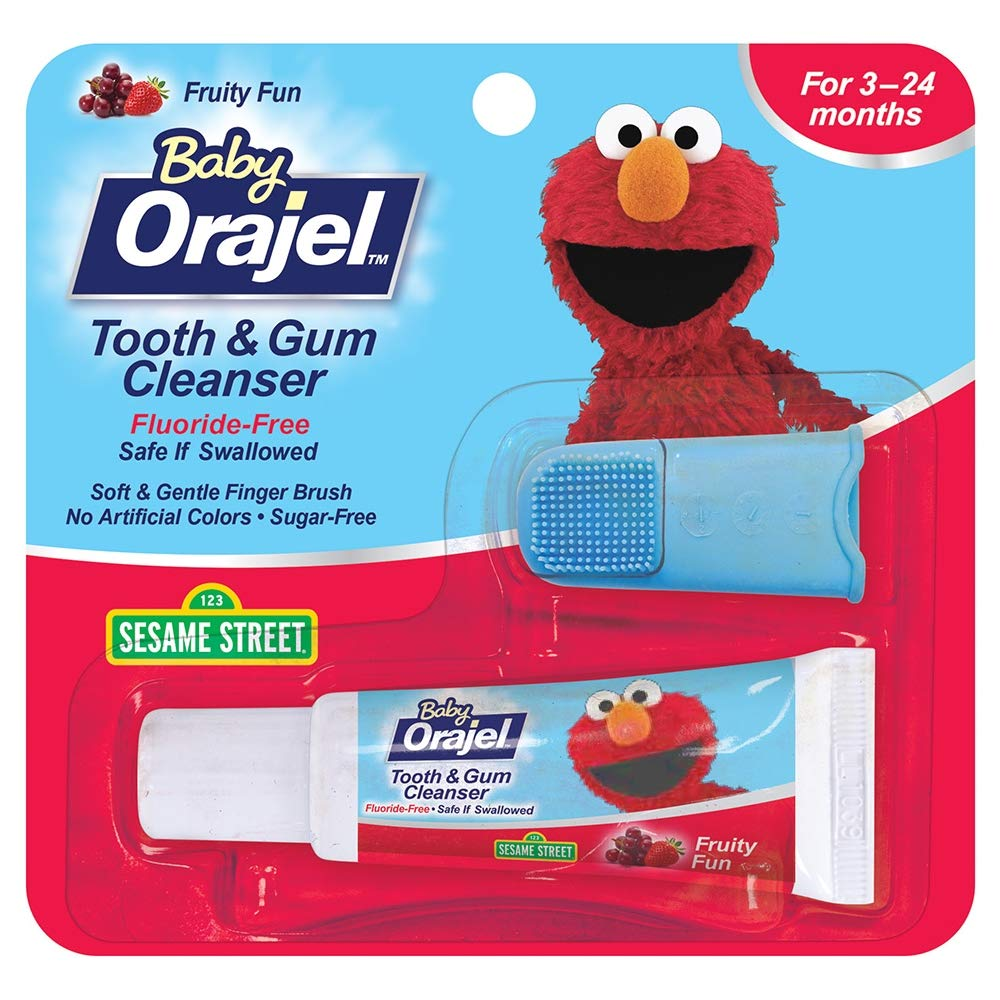Baby Orajel Tooth & Gum Cleanser Fruity Fun – 0.7 oz, Pack of 4