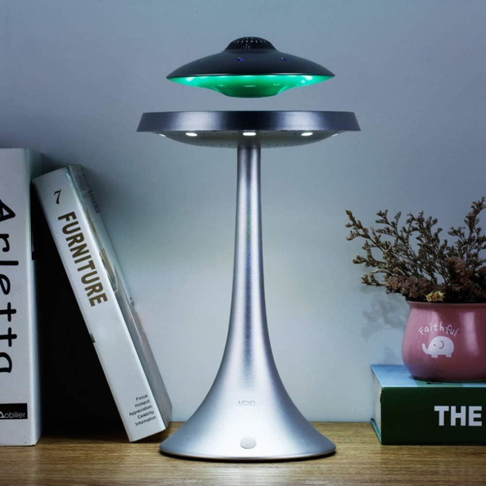 HFJKD altavoz Bluetooth magnético levitante flash de LED 4.0 sin cable del altavoz flotante con botones táctiles de micrófono y se puede utilizar en la familia, etc, la moda