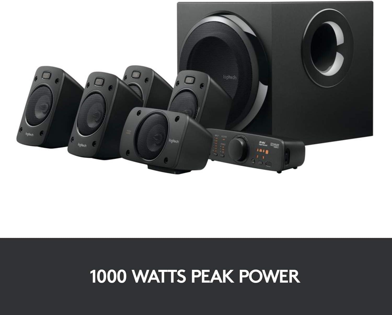 Logitech Z906 5.1 sound system, speakers with 1000 watt: Amazon.de:  Computers & Accessories