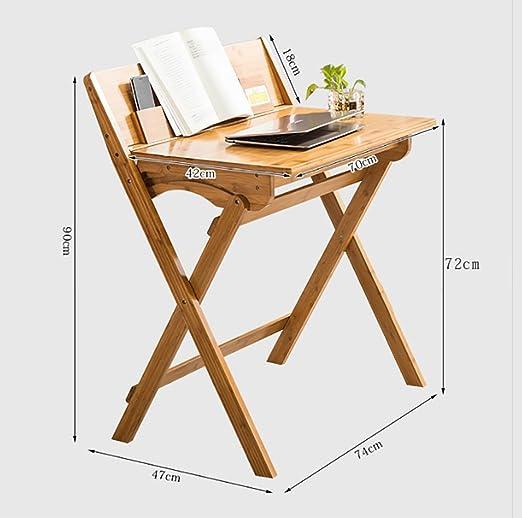SPZDZ Mesa de Estudio Plegable de Escritorio de bambú para niños ...