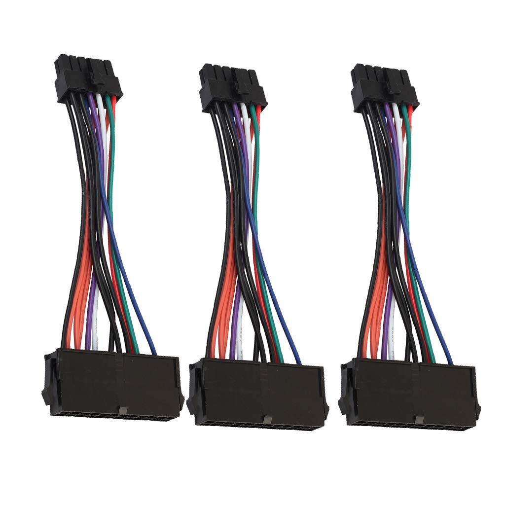 perfk 3pcs ATX 24Pin /À 12Pin Connecteur Corde C/âble Flex C/âble dExtension Pour Acer