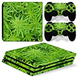 MODFREAKZ™ Console and Controller Vinyl Skin Set - Dense Weed Patch for PS4 Pro