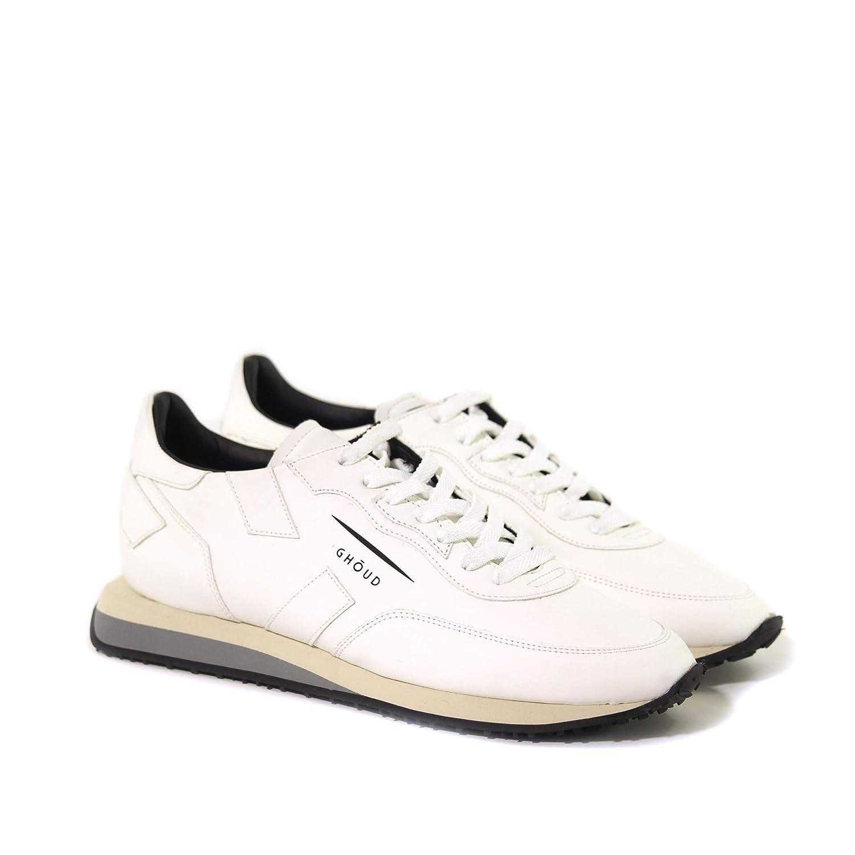 GHOUD Herren RSMLSC17 Weiss Leder Sneakers: