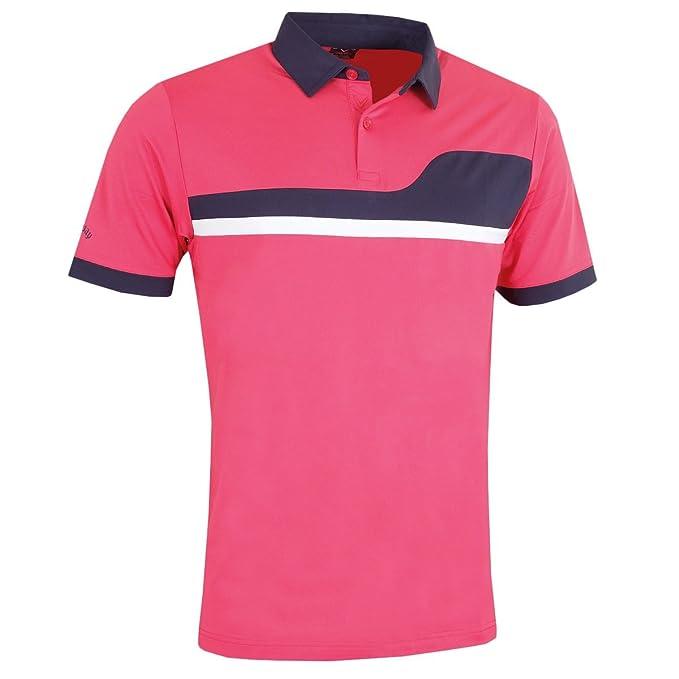 Callaway Asymemetric Colour Block Polo de Golf, Hombre: Amazon.es ...