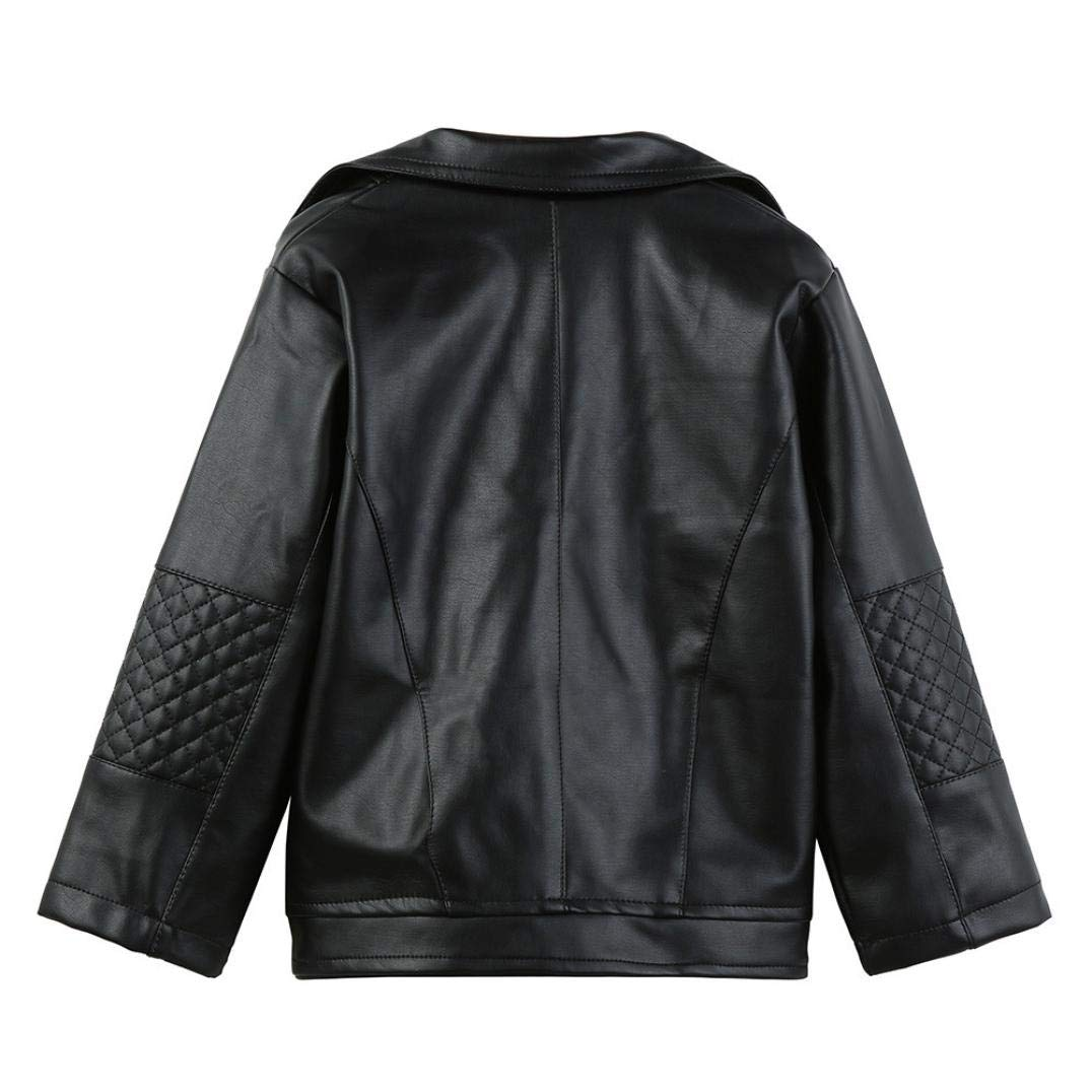 Moonker Baby Short Jacket Coat 1-5 Years Old,Toddler Boys Girls Kids Outerwear Autumn Winter Leather Outwear Clothes