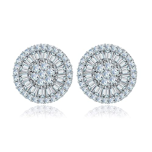ee27c25cf LILY TREACY CZ Stud Earrings 5ct Top Russian Cubic Zirconia simulated  diamond, ruby, sapphire