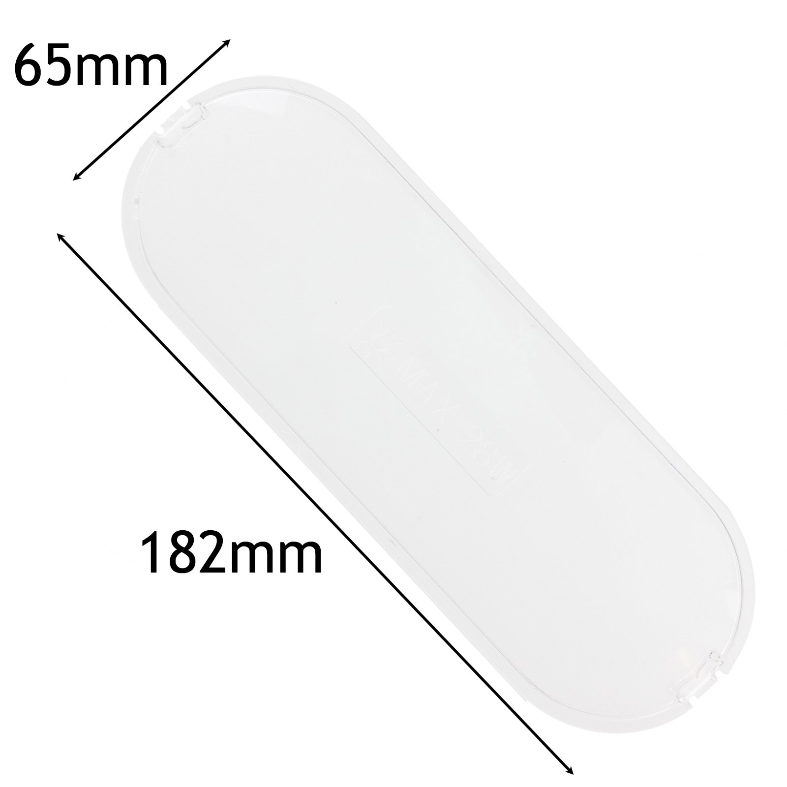 Spares2go Cooker Hood Light Diffuser / Lens Cover Plate (182Mm X 65Mm)
