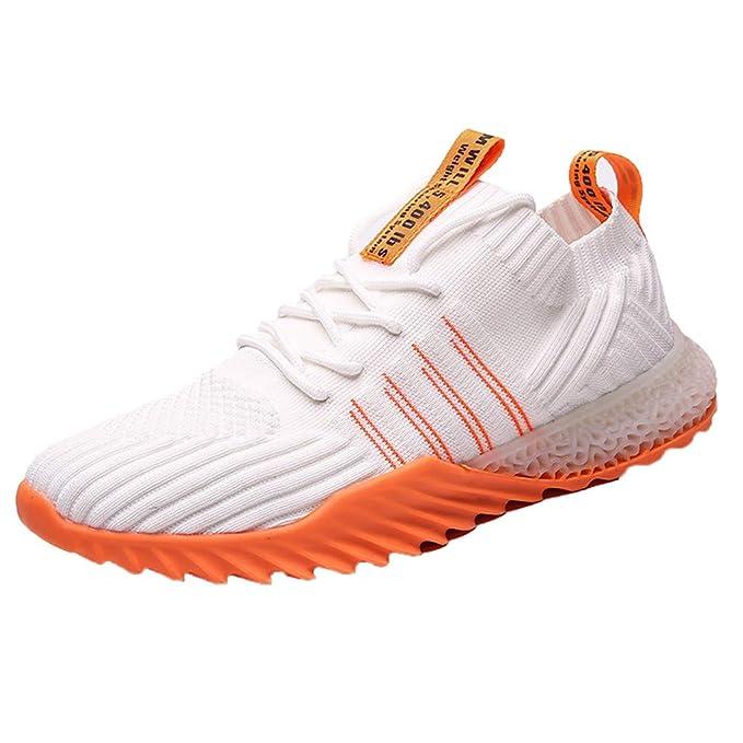 JiaMeng Zapatos para Correr Hombre Zapatillas de Deporte Ligeras ...