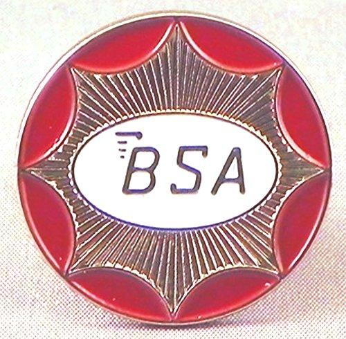 Pin de metal esmaltado, insignia de motocicleta BSA, diseño redondo, color plateado: Amazon.es: Hogar