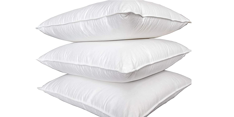 Welt-der-Träume 2 Stück Kissen (Set) 80  80 cm   1100 Gramm Premium DAUNEN-Federn KOPFKISSEN - andere Bettwaren im Shop