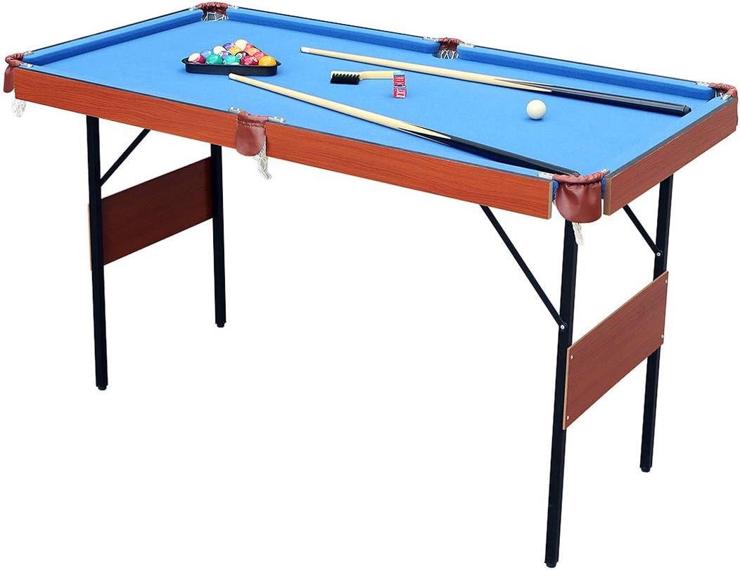 HLC 139,7 cm ahorro de espacio plegable billar mesa: Amazon.es: Deportes y aire libre