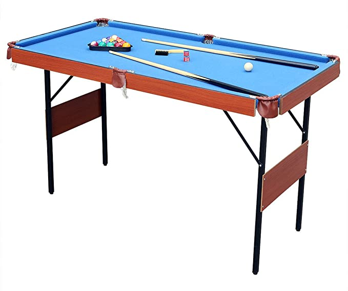 "hlc 55"" Folding Space Saver Pool Billiard Table – Compact Pool Table for Small Game Rooms"