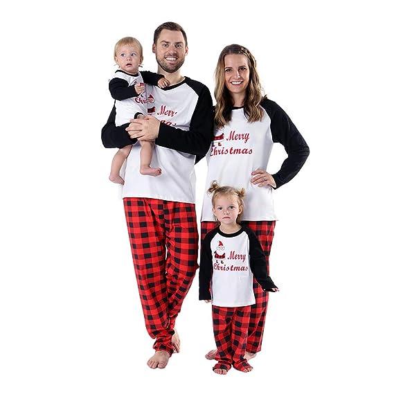 11ac2fc155da0 Baywell Adulte Enfants Mère Père Famille Assortie Ensemble de Pyjama ...