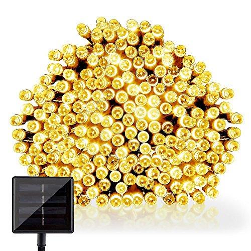 GDEALER LED Solar Lichterkette Weihnachten Decoration 22m 200 LED 8 Modes Wasserdicht für Outdoor Party, Haus Dekoration, Hochzeit, Weihnachten, Feier Festakt (Warmweiß)