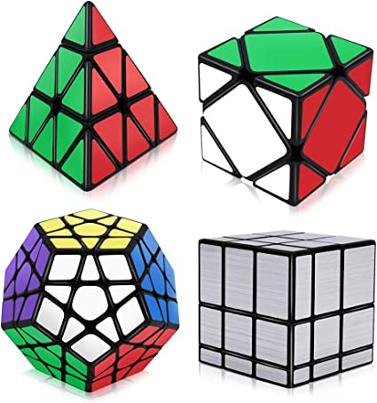 Cool Gold Mirror Magic Cube Professional Smooth Speed Cube for Kids Adult
