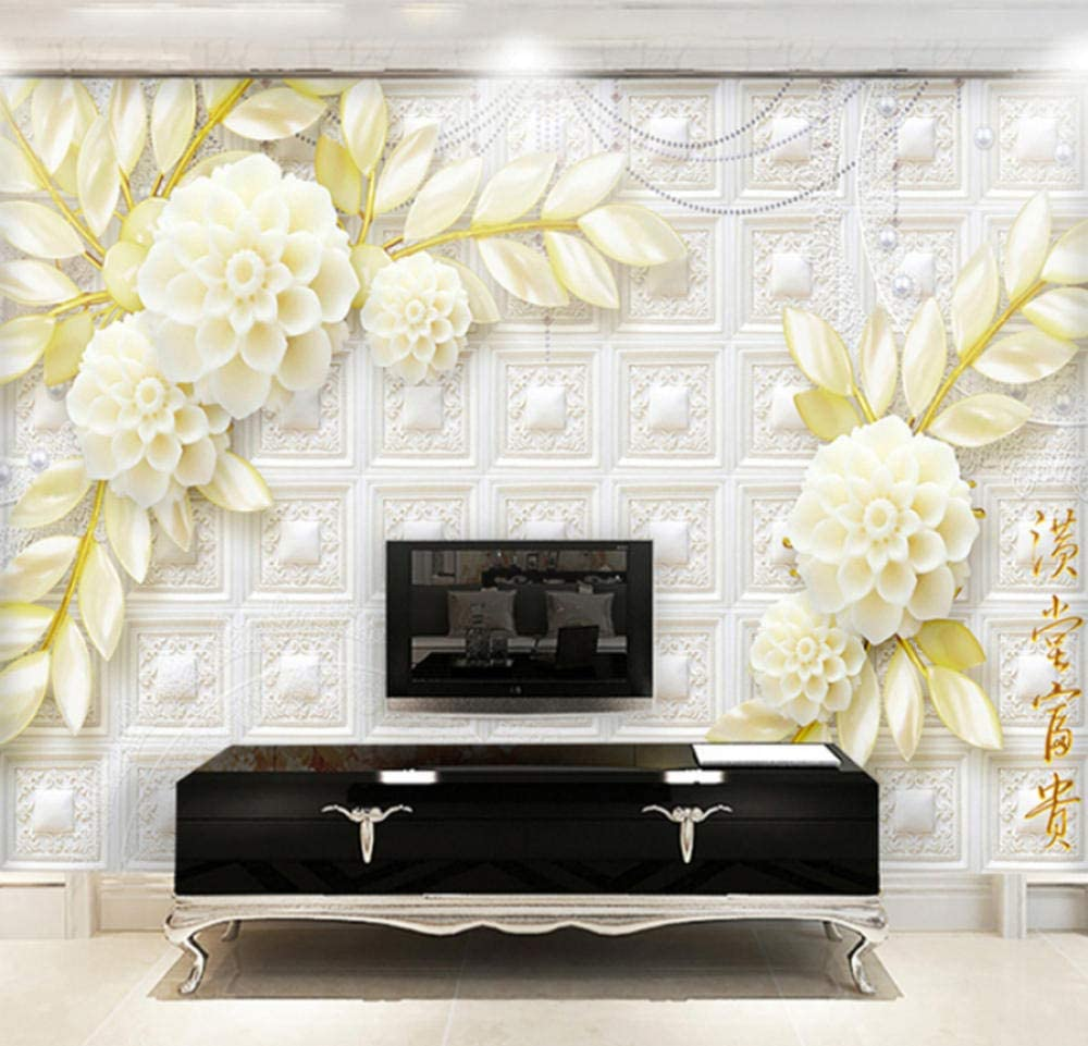 European Style 3d Stereo Relief Flower Mural Luxury Living Room Tv Background 3d Photo Wallpaper Amazon Com