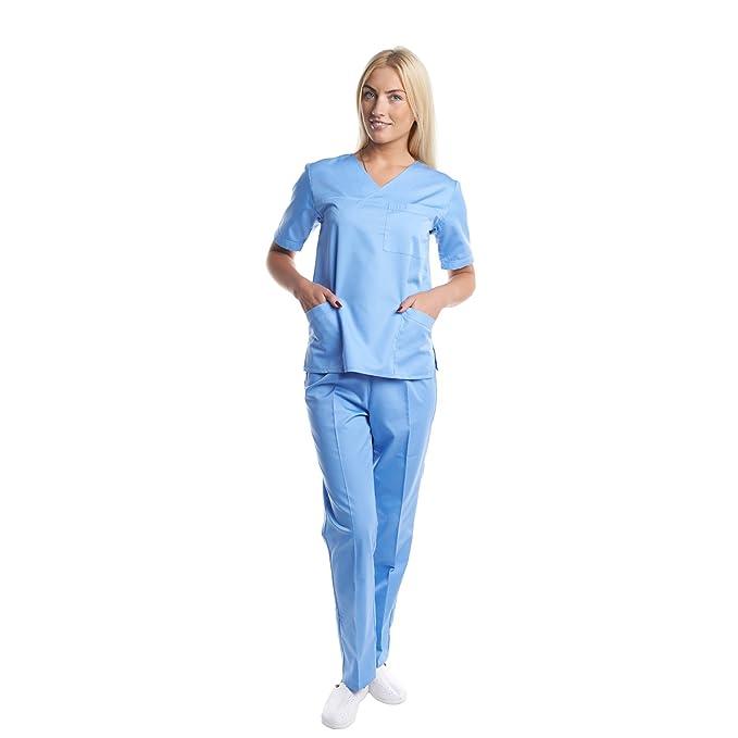 Pijama Sanitario Competo laboratorio ropa medico: Amazon.es: Ropa y accesorios