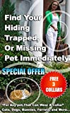 35%OFF The Cat CallerBEST Pet Tracker Small Enough for Cats - 1 Key chain Remote Locator + 3 Collar Receivers – White, Blue & Pink + 3 FREE COLLARS + FREE I.D. tag stickers- GREAT GIFT IDEA!