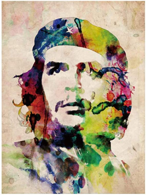WSHIYI Figura Famosa Pintura Ernesto Guevara Pared Arte Lienzo Pintura Cuadros Cartel Arte Regalo decoración para el hogar-60x90 cm sin Marco