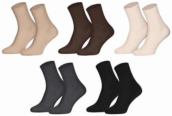 Star Socks 10 pares Calcetines para hombre sin goma 90% Algodón multicolor 43