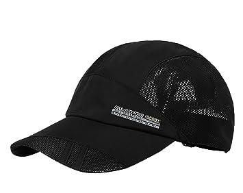 1cfc3f1d6 Men's Solid Baseball Hat Cap Mesh Quickly-dry Summer Sun Protection Fishing  Camping Golf Trucker Cap Hat Lightweight Foldable Travel Beach Hat UPF 50+