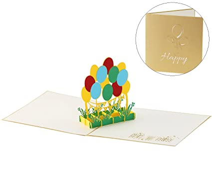 Amazon Unigift Balloon Pop Up Birthday Cards For Women Men