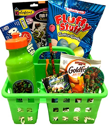 TMNT Gift - For Toddler - For Young Child - For Boy or Girl - Christmas Gift Basket- Lots Of Fun, Snacks, and Activities for Christmas and Holiday Activities! (Teenage Mutant Ninja Turtles)