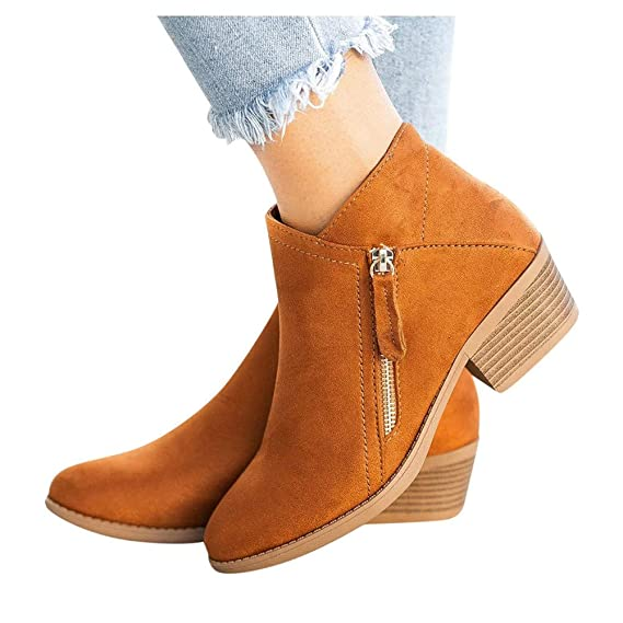 Gibobby Womens Ankle Boots no Heel