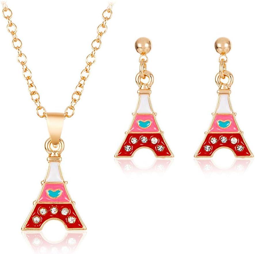 💦Qiiueen💦Collares Mujer, Color Caramelo, Torre De París ...