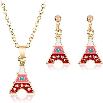 💦Qiiueen💦Collares Mujer, Color Caramelo, Torre De París, Pendientes De Collar: Amazon.es: Juguetes y juegos
