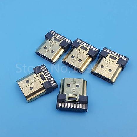 Davitu - Conectores para soldador de cables (50 unidades, conectores HDMI macho, 19 pines): Amazon.es: Bricolaje y herramientas