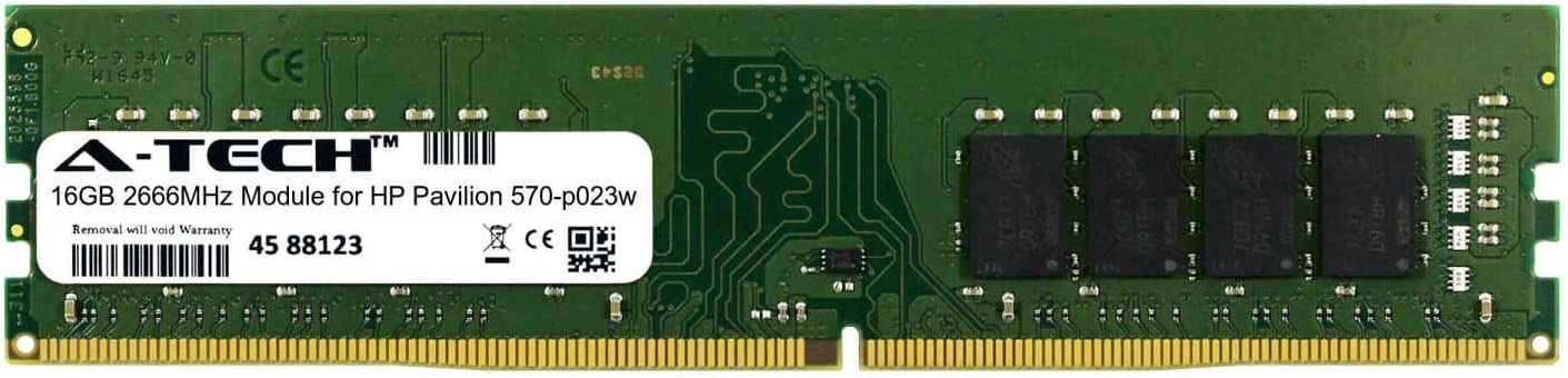 A-Tech 16GB Module for HP Pavilion 570-p023w Desktop /& Workstation Motherboard Compatible DDR4 2666Mhz Memory Ram ATMS310955A25823X1