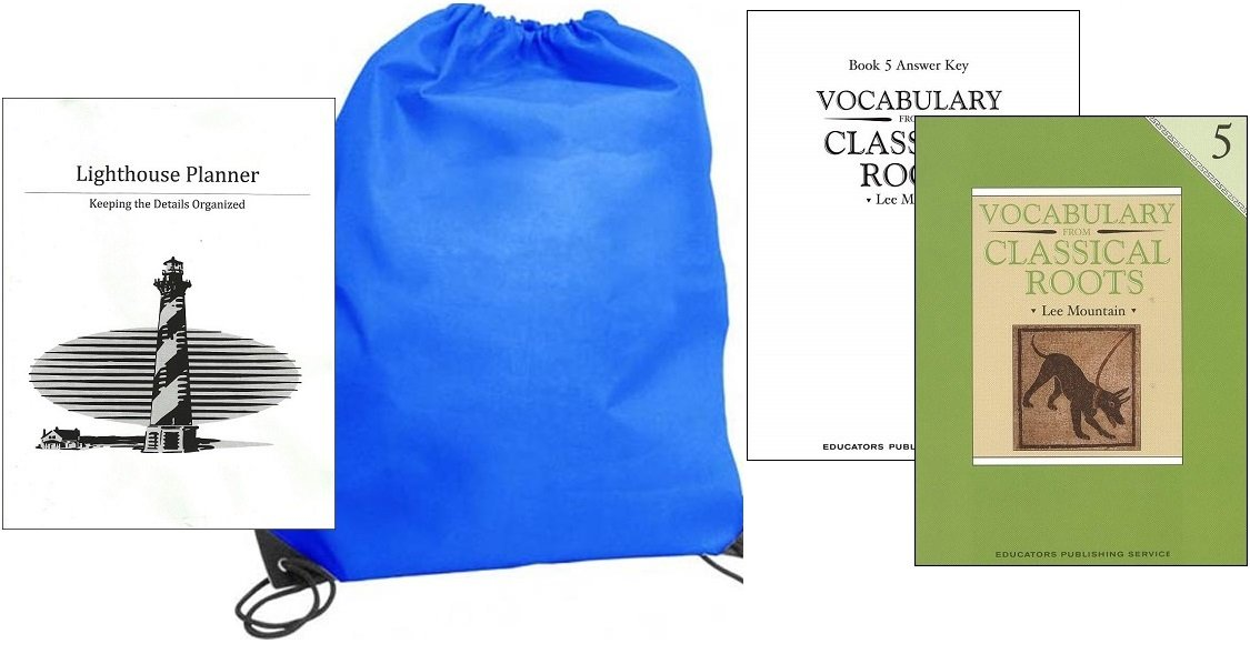 Vocabulary from Classical Roots Grade 5 w/ Answer Key homeschool kit in a bag PDF
