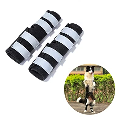 WUXIAN Dog Rear Leg Braces,Dog Knee Brace with Safety Reflective Straps for  Injury and Sprain Protection,Wound Healing and Loss of Stability from