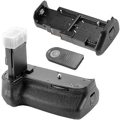 Neewer® Vertical empuñadura Apretón de batería Battery Grip BG-1KIR con mando a distancia IR para Canon EOS 6D Reemplazo para Canon BG-E13