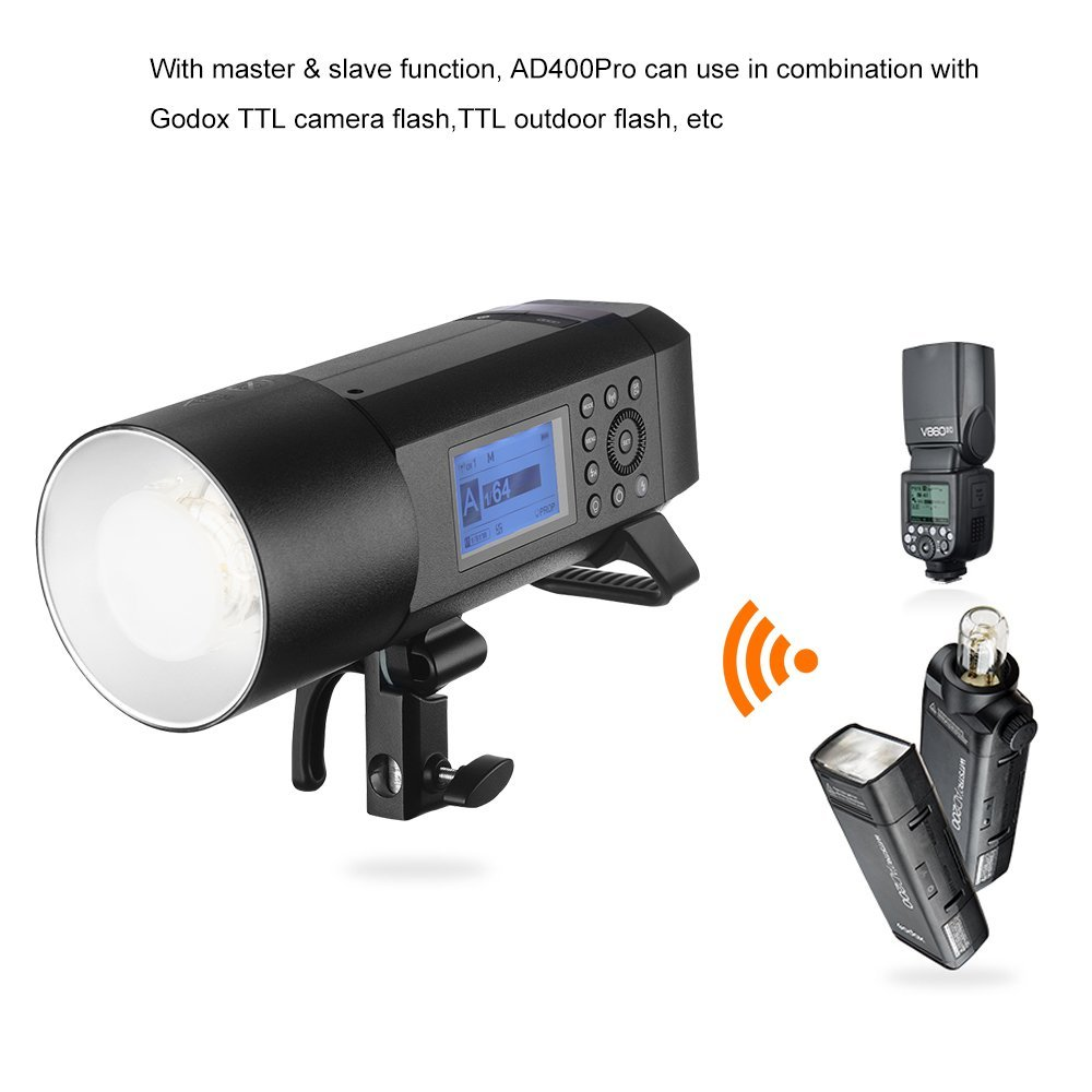 Godox AD400Pro All-in-one Outdoor Flash Strobe Battery-Powered Monolight with TTL HSS 2.4GHz X Wireless Remote System (Support Various Accessories by Different Adapter Ring) by Godox (Image #4)