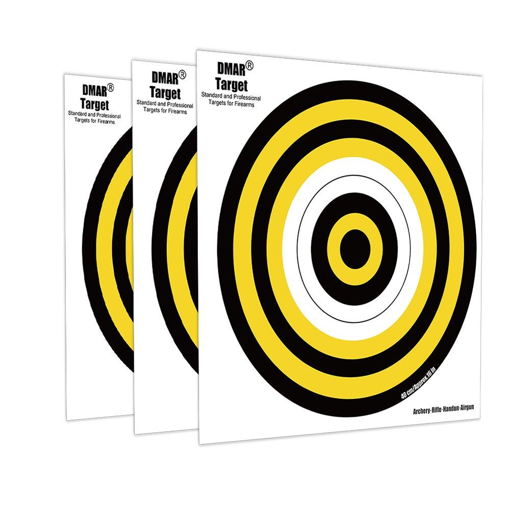 DMAR 20 Scheiben 40 Schie/ßen Ziele Bullauge Zielscheiben Papier F/ür Outdoor-Sport 40cm Bogenschie/ßen Ziel Gesichter
