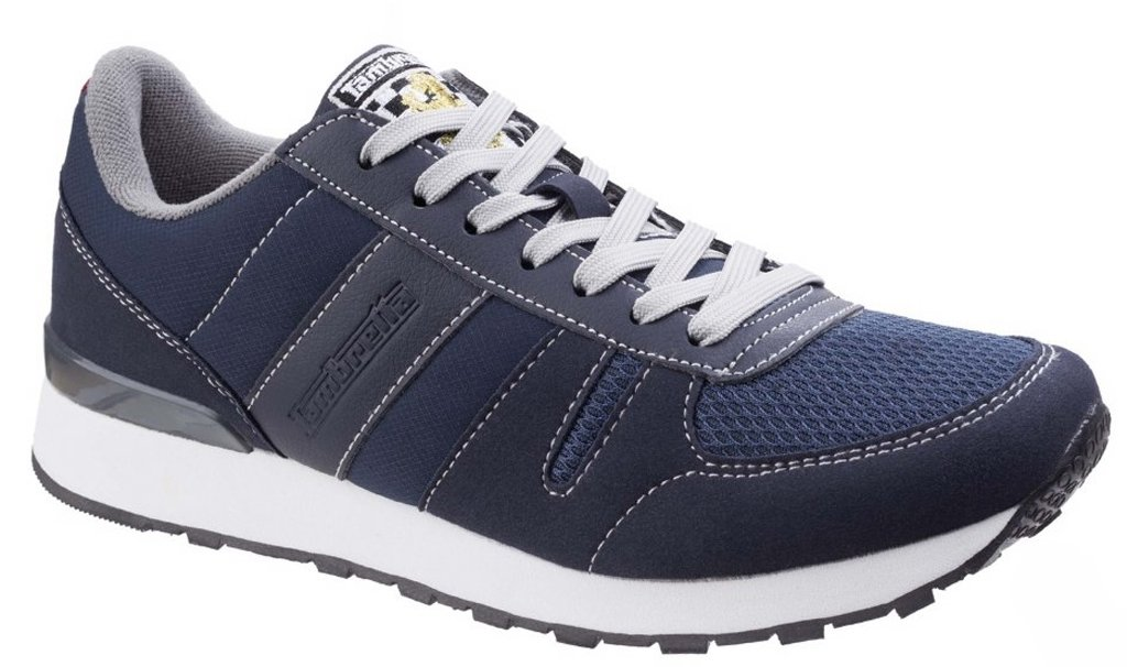 Lambretta Mens Elite II Lace Up Casual Sporty Fashion Trainers  43 EU|Navy