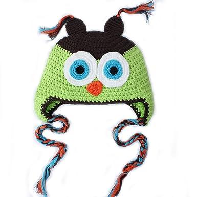 Ama Kleinkind Säugling Tiermütze Baby handgefertigt Eule Hut häkeln ...