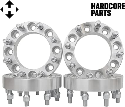 8X170 TO 8X180 WHEEL ADAPTERS 1.5 INCH USE NEW CHEVY WHEELS ON FORD F-250 F-350