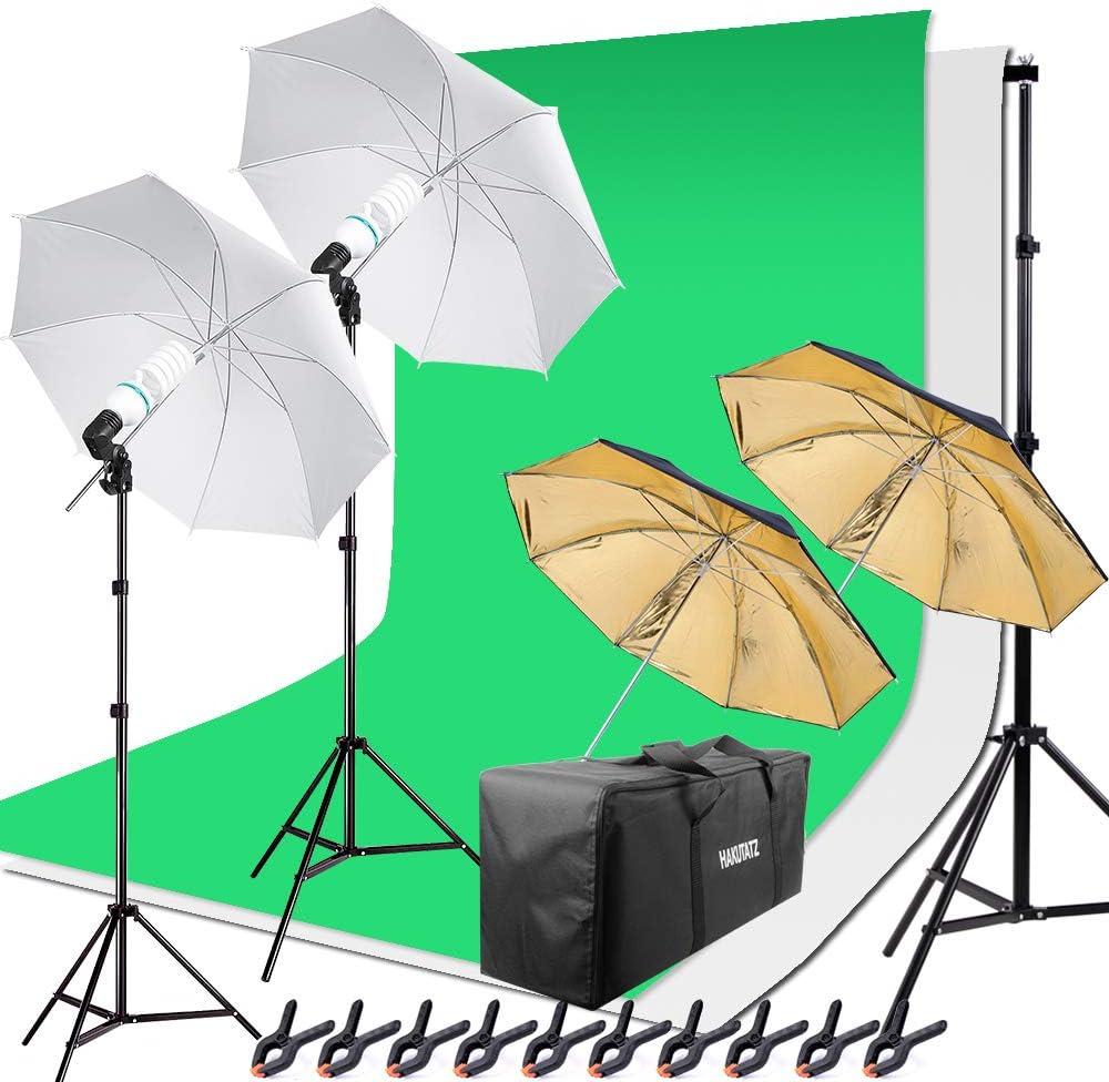 Hakutatz Hintergrund Fotostudio Set 5 In 1 Reflektor Kamera