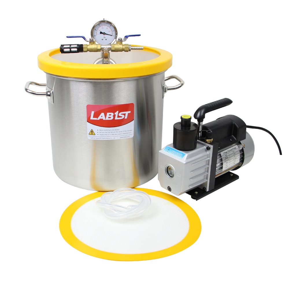 5 Gallon Vacuum Degassing Chamber Kit with 3 CFM Pump - Not for Wood Stabilizing by LAB1ST