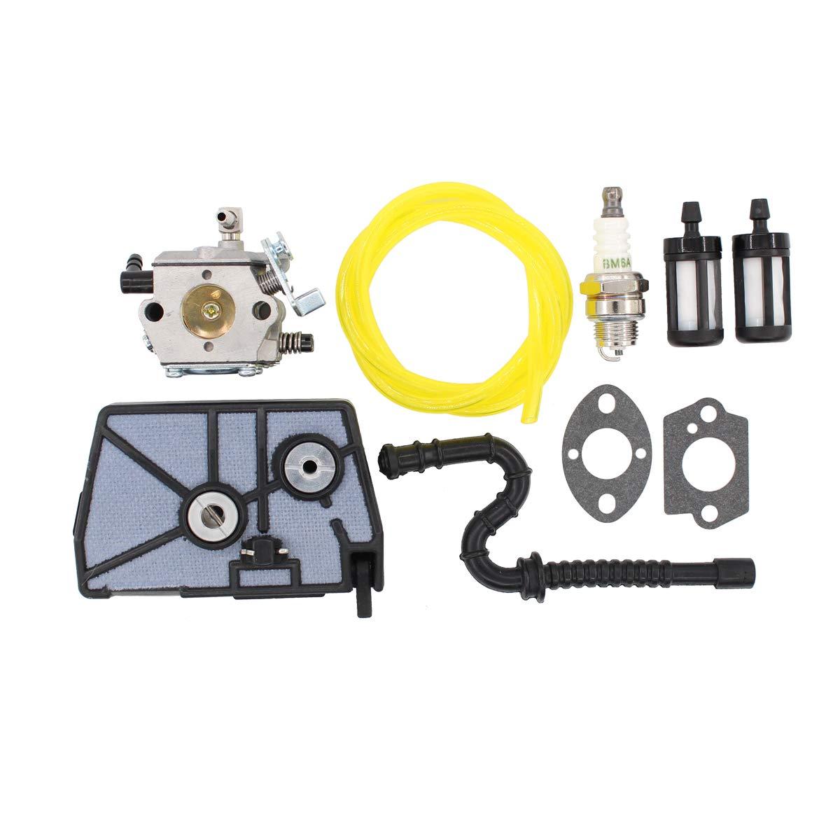 MOTOKU Carburetor Air Filter Fuel Line Filer Carb for Stihl 028 028AV 028 AV Super Wood Boss Chainsaw Replaces Walbro WT-16B Tillotson HU-40