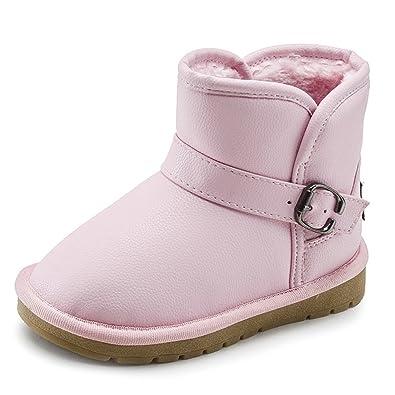 6d85c814e3e19 GreatParagon Paragon Enfant Garcon Fille Bottes Fourrées Bottes de Neige  Hiver Bottines Chaussure
