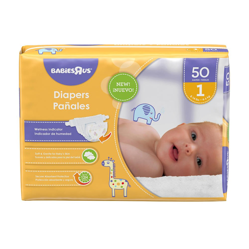 Amazon.com: Babies R Us Size 1 Jumbo Pack Diapers - 50 Count: Health & Personal Care