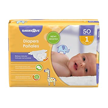 Babies R Us Size 1 Jumbo Pack Diapers - 50 Count