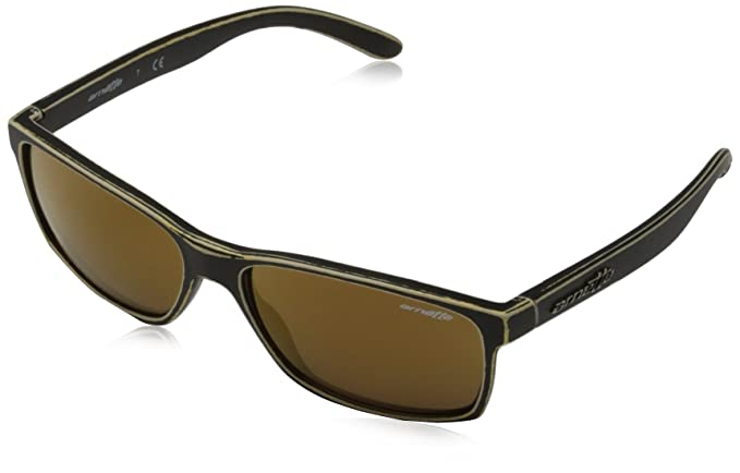 Arnette Slickster, Gafas de Sol para Hombre, Matte Stone Washed Gold, 58