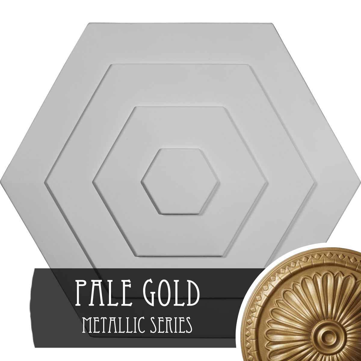 Ekena Millwork CM23WFPAS Woodruff Ceiling Medallion, 23-1/4'' x 7/8'', Pale Gold