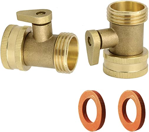 PLG Solid Brass Water Hose Shut-Off Valve